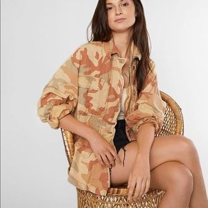 Free People Lead The Way Camouflage Jacket